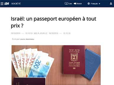 כתבה אודות דרכון פורטוגלי - בערוץ 24